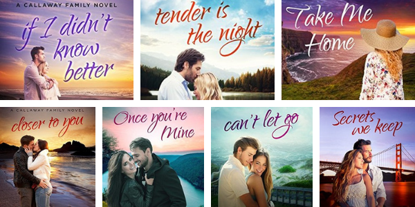 Book covers for the Callaway Cousins Series by Barbara Freethy