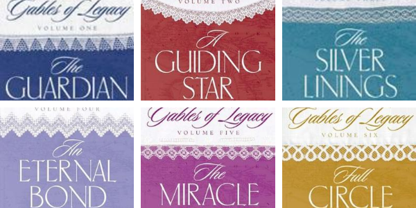 Book Covers for the Gables of Legacy series, volume 1 through 6.  You'll find that these books are a continuation of the Byrnehouse-Davies & Hamilton Saga!