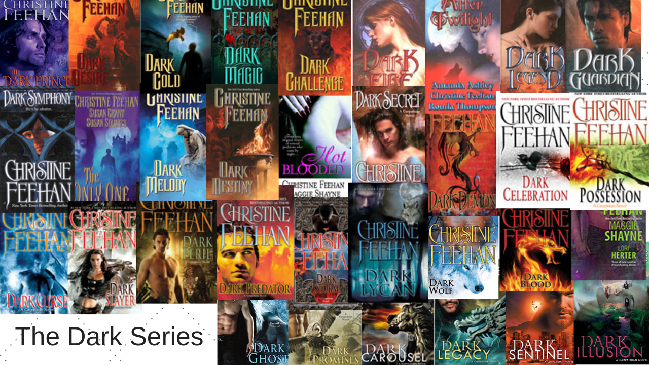 Click here to see the individual book pages for the Dark Series by Christine Feehan!