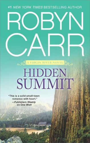 Here's another book cover I found for Hidden Summit, book 17 in the Virgin River Series.