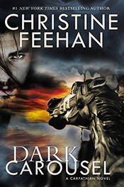 2016 Book Cover for Dark Carousel by Christine Feehan; this edition is for Kindle, paperback, hardcover and ebook!!!