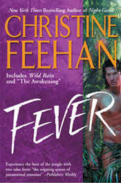 Anthology Fever with Christine Feehan's book 1: The Awakening and book 2: Wild Rain