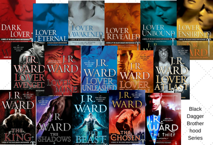 Take a look at the individual book pages for the Black Dagger Brotherhood Series by JR Ward!