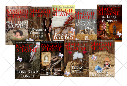 Click here to see the individual book pages for the Texas Brand Series by Maggie Shayne