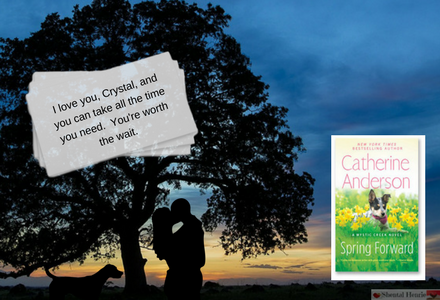 Book quote:  This is a text from Tanner to Crystal.
