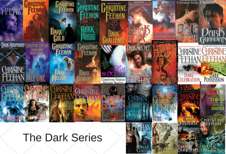 Book Covers to the entire Dark Series by Christine Feehan