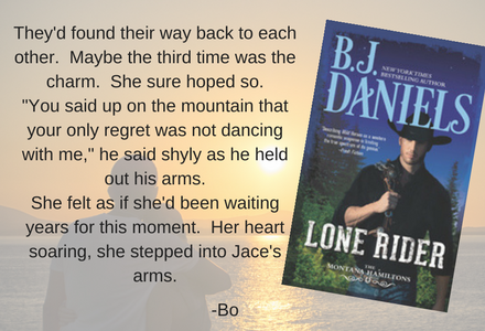 Lone Rider by B.J. Daniels is a fun, easy read that will pull you into the story about the Hamiltons.