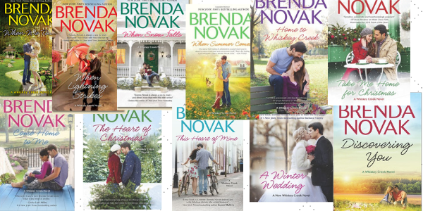 Book Covers to the Whiskey Creek Series by Brenda Novak