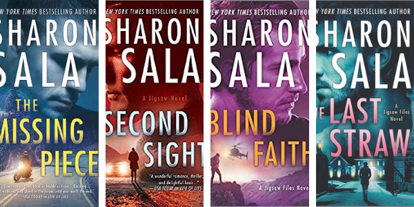 Here's the book covers for the Jigsaw Files by Sharon Sala!  You've got The Missing Piece, Second Sight and Blind Faith!