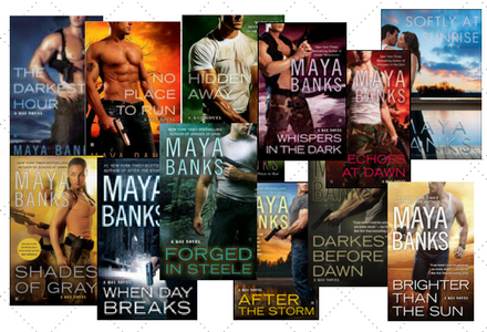 The book covers for the KGI Series by Maya Banks