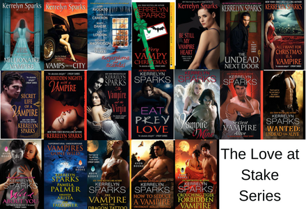 Click here to see the individual book pages for the Love at Stake Series by Kerrelyn Sparks!
