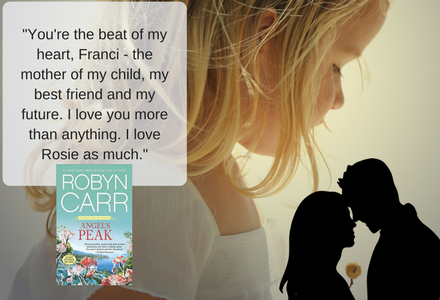 Book Quote: Sean does win her back in the end, which is sweet!  Here's part of the scene where he shows Franci that he can and will love her till the end!