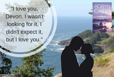 Book Quote from The Hero.  This is when Spencer admits to Devon that he wants to be with her.