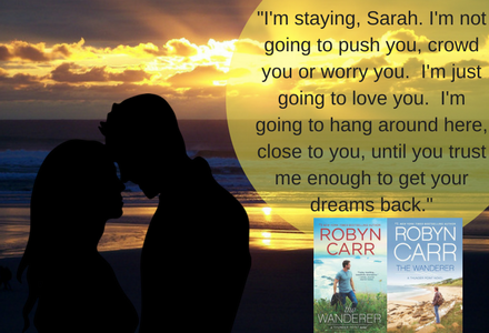 Book Quote from The Wanderer.  This is when Cooper was telling Sarah that he was sticking around and not leaving!!