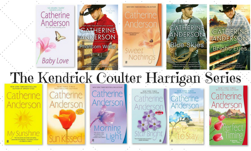 Here's a quick look at the book covers for the Kendrick Coulter Harrigan Series by Catherine Anderson! As you can see the book covers are changing!!