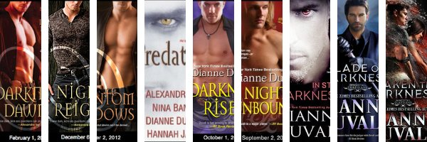 Check out the individual book pages for the Immortal Guardians Series by Dianne Duvall!