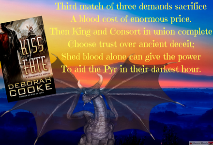 Fun graphic to show the prophecy that was given for Erik and Eileen's firestorm.  From book 3, Kiss of Fate.