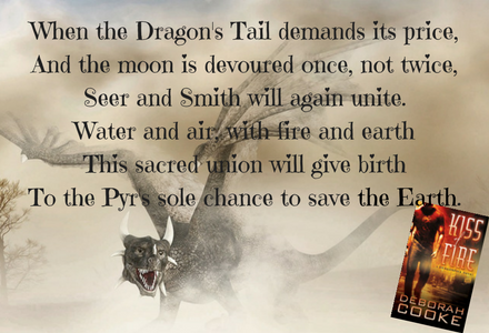 Graphic of the prophecy given in book 1, Kiss of Fire.
